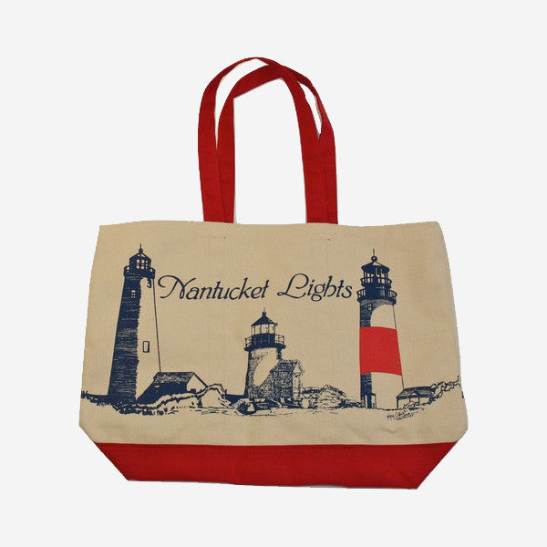 Lighthouse Boat Tote - Red