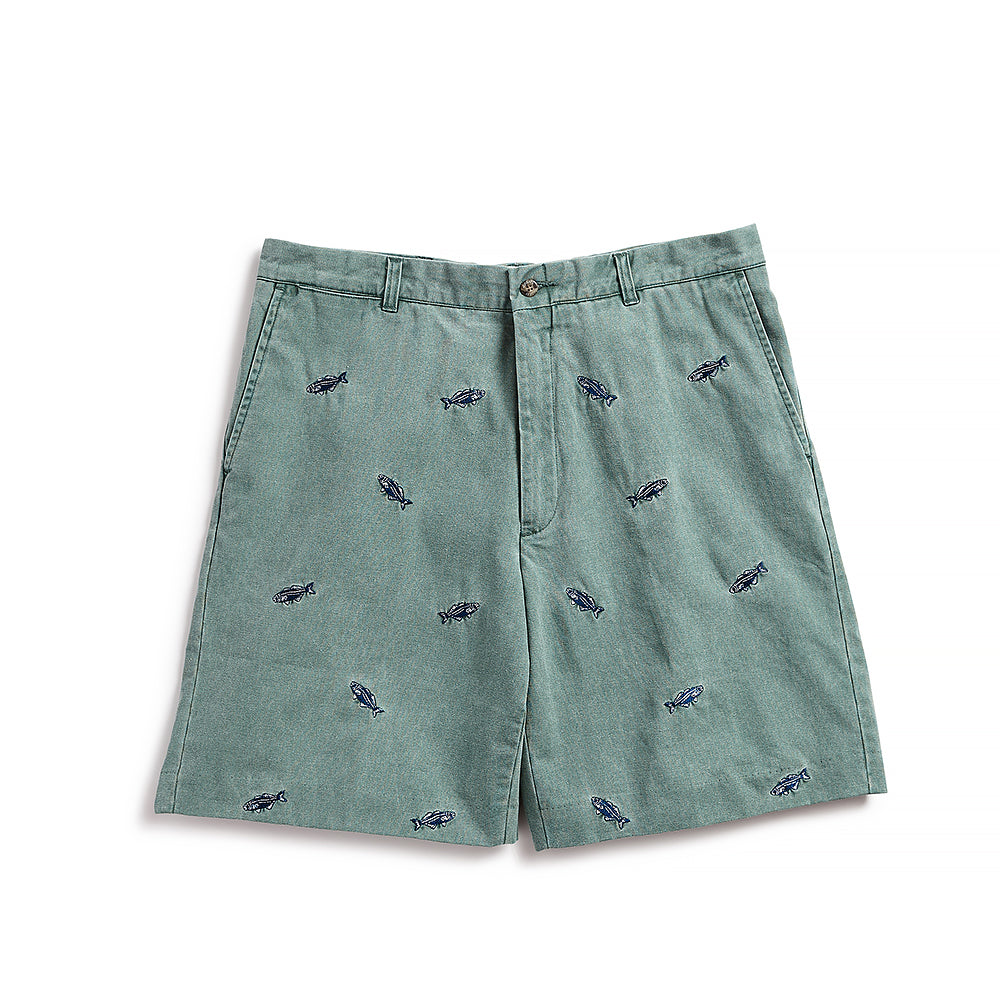 Nantucket Reds Collection™ Men's Bluefish Bermuda Shorts - Green