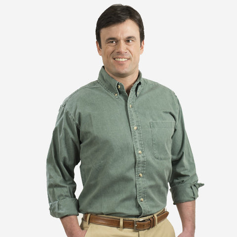 Nantucket Reds Collection™ Long Sleeve Button Down - Green