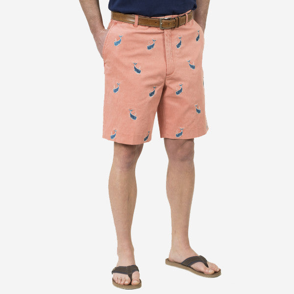 Nantucket Reds Collection™ Men's Embroidered Whale Bermuda Shorts