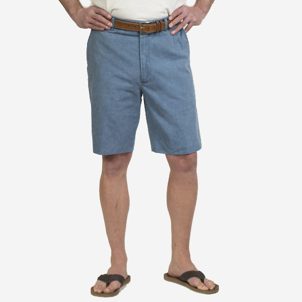 Nantucket Reds Collection™ Men's Plain Front Bermuda Shorts - Blue