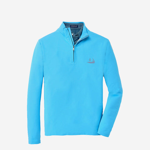 "Peter Millar Mens Crown Crafted ""Ace"" 1/4 Zip - Cannes Blue"