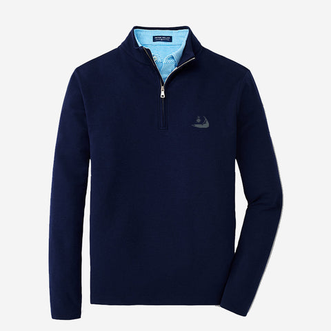 "Peter Millar Mens Crown Crafted ""Ace"" 1/4 Zip - Navy"
