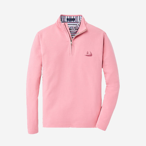 "Peter Millar Mens Crown Crafted ""Ace"" 1/4 Zip - Spring Blossom"