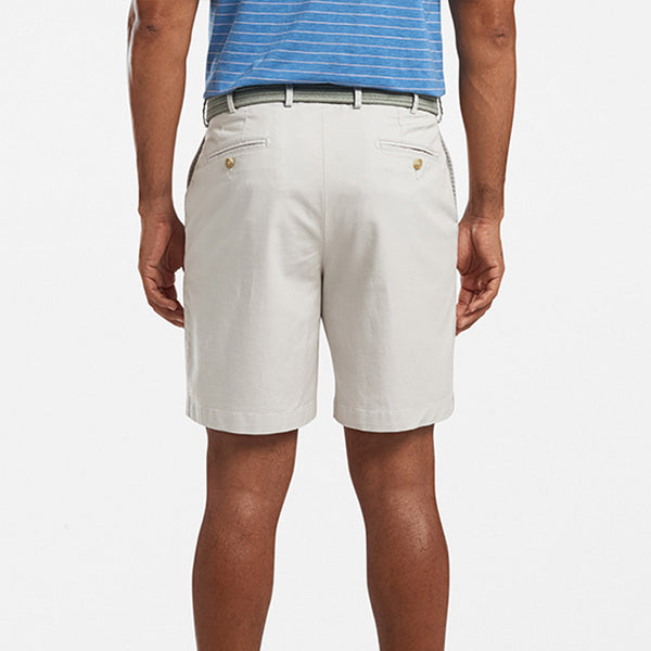 Peter Millar Soft Touch Twill Short Light Grey