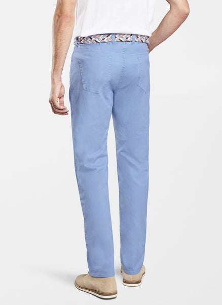 Peter Millar Soft Touch Twill Five-Pocket Pant Blue Coast