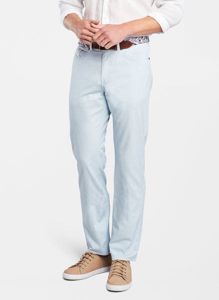 Peter Millar Soft Touch Twill Five-Pocket Pant Sky