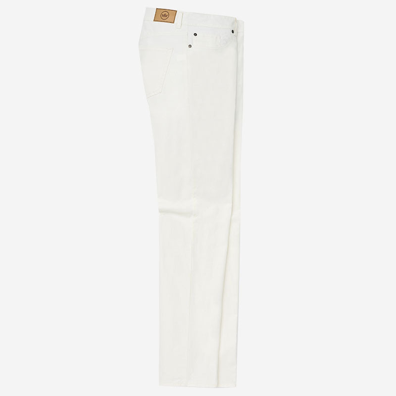 Peter Millar Soft Touch Twill Five-Pocket Pant White