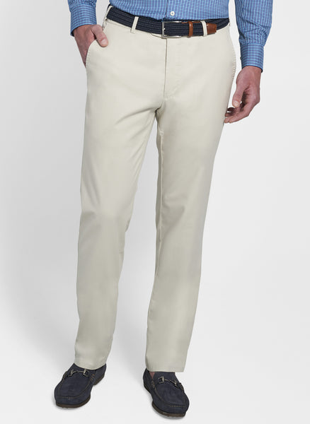 Peter Millar Soft Touch Twill Trouser Stone