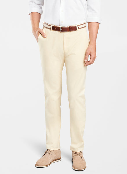 Peter Millar Soft Touch Twill Flat-Front Pant Chamois