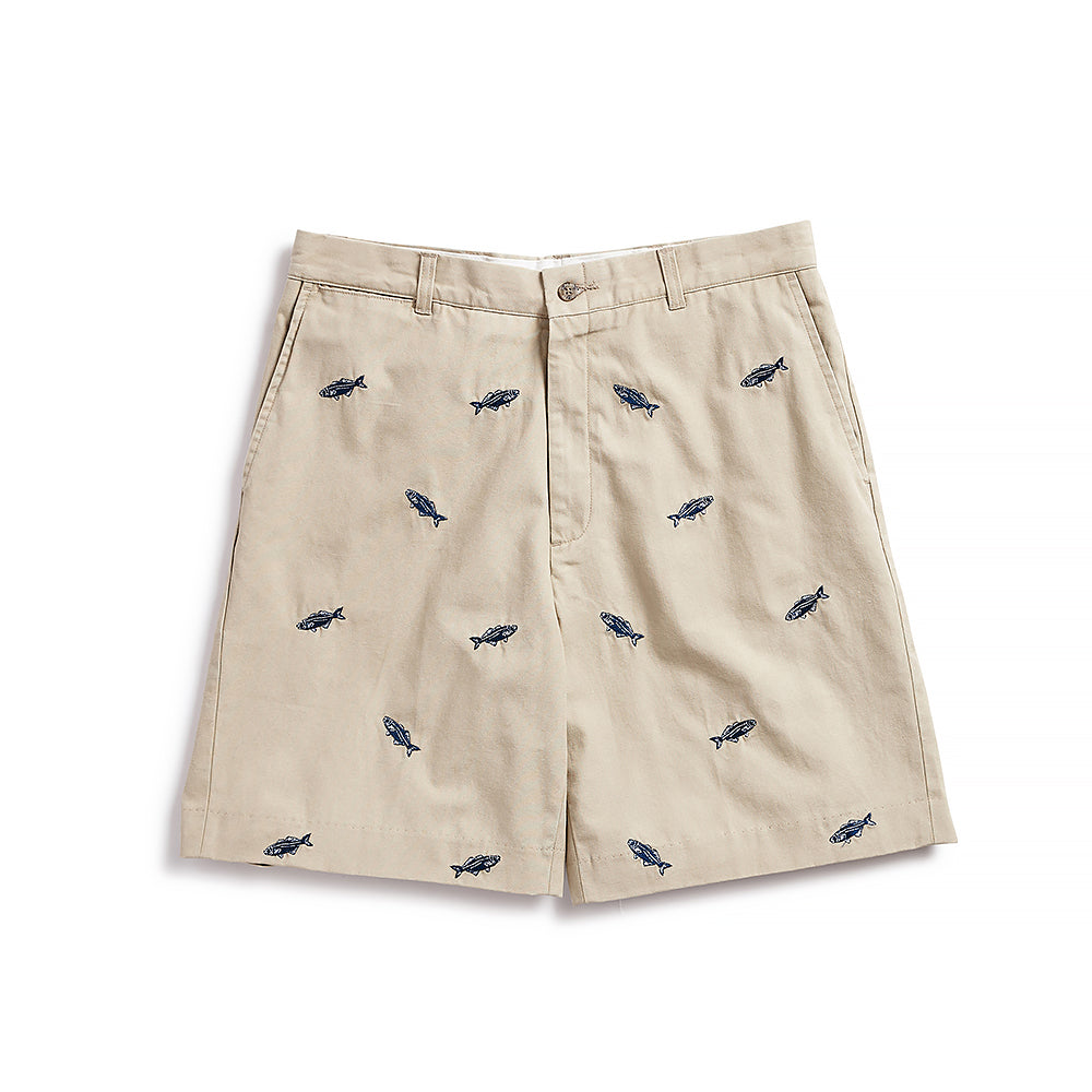 Nantucket Reds Collection™ Men's Bluefish Bermuda Shorts - Khaki