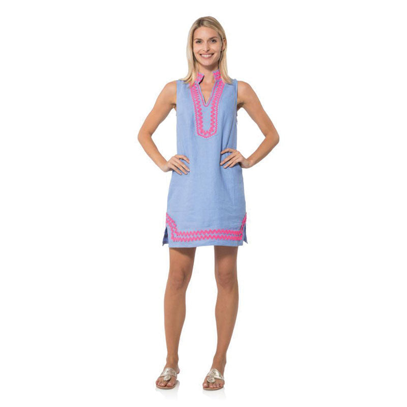 Sail to Sable Sleeveless Classic Tunic With Ric Rac - Hydrangea