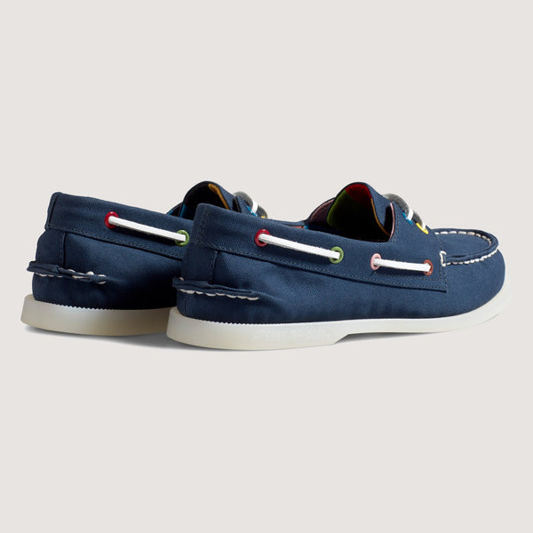 Sperry x Rowing Blazers Authentic Original 2 Eye Croquet Trim Boat Shoe - Navy