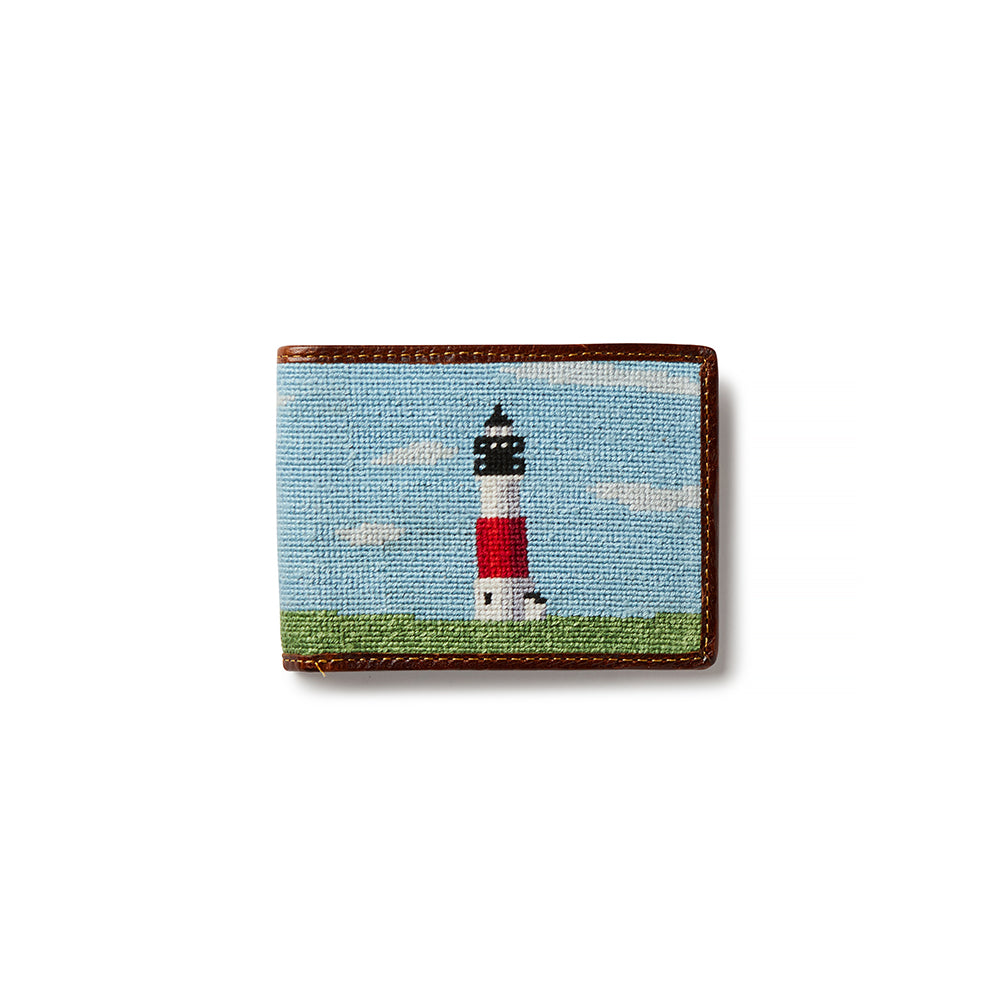 Smathers & Branson Sankaty Lighthouse Needlepoint Bifold Wallet