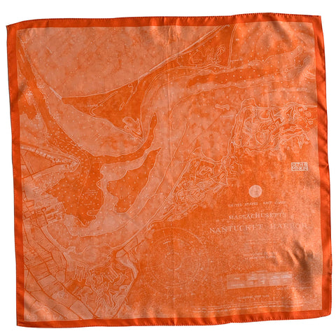 Seth B Minkin Nantucket Harbor Pocket Square Great Point Sunset
