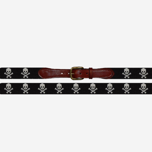 Smathers & Branson Jolly Roger Needlepoint Belt