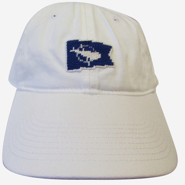 Smathers & Branson Nantucket Burgee Flag Needlepoint Hat - White