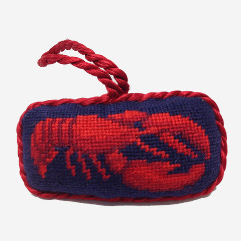 Smathers & Branson Lobster Needlepoint Ornament