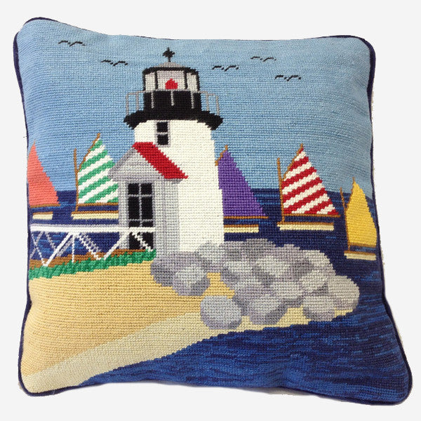 Smathers & Branson Brant Point Lighthouse Needlepoint Pillow