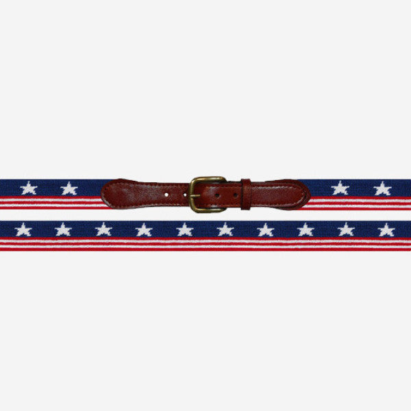 Smathers & Branson Old Glory Needlepoint Belt