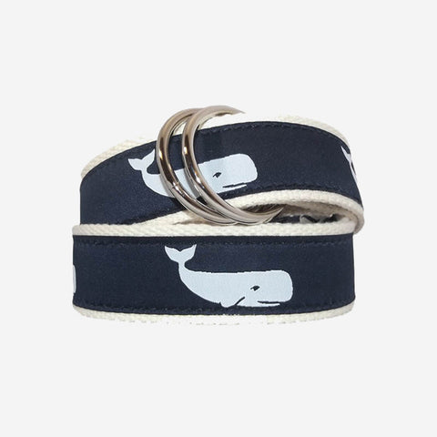YRI Men's Classic O-Ring Belt - Happy Whale