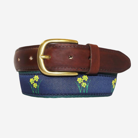 YRI Men's Ribbon Belt - Daffodils