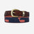 YRI Men's Ribbon Belt - Happy Red Whale