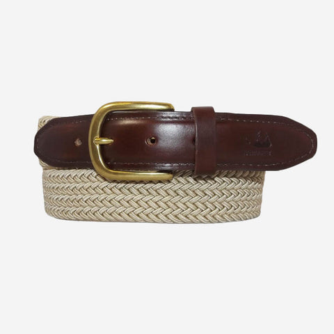 YRI Men's Stretch Elastic Belt - Khaki