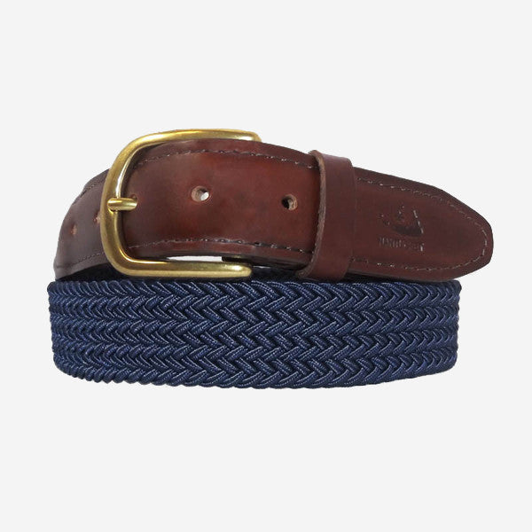 YRI Men's Stretch Elastic Belt - Navy