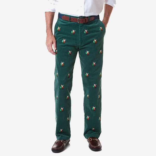 Castaway Beachcomber Corduroy Pant - Hunter with Santa