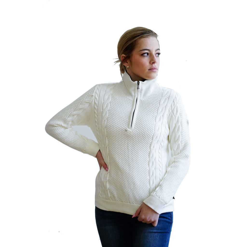 Holebrook Annika T-Neck Sweater Off White