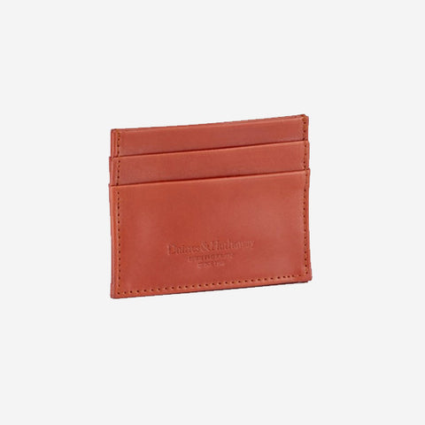 Daines & Hathaway Double Card Case - Bridle Chestnut Tan