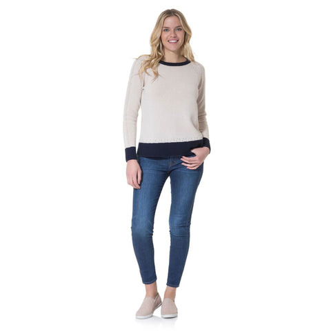 Sail to Sable Merino Wool Pom Pom Sweater Camel