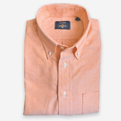 M Crest by Gitman Bros Button Down Oxford Orange