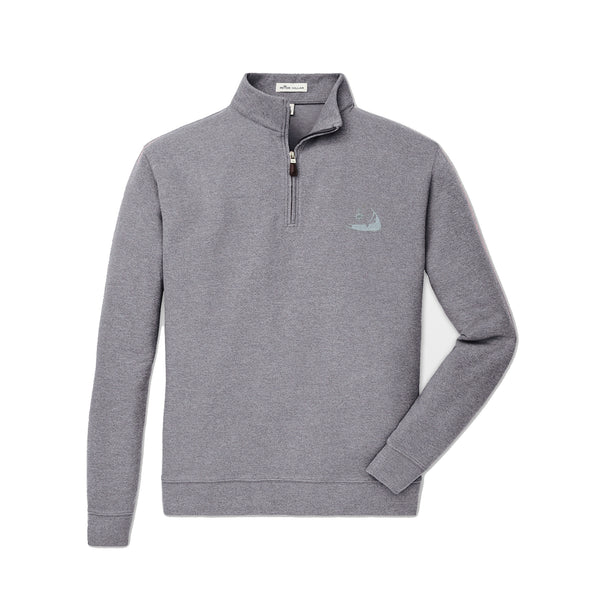 Peter Millar Tri-Blend Mélange Fleece Quarter-Zip Iron