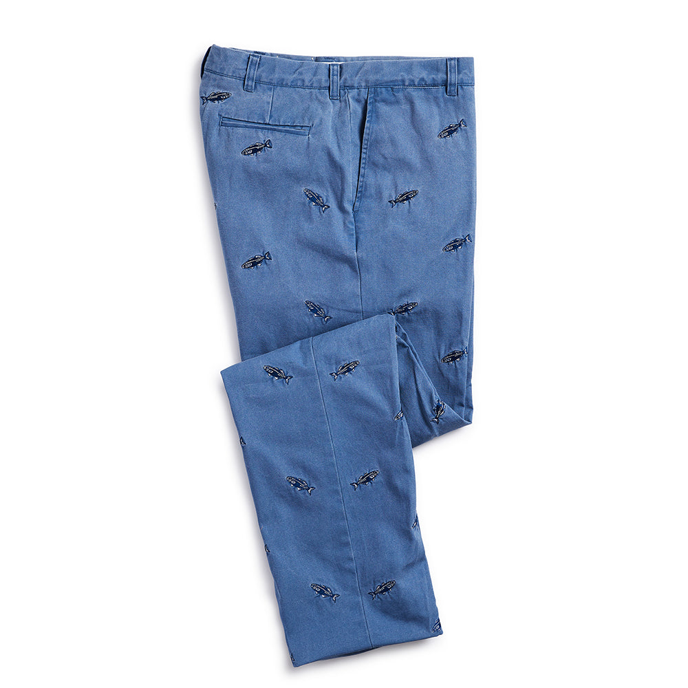 Nantucket Reds Collection™ Men's Embroidered Whale Pants Blue