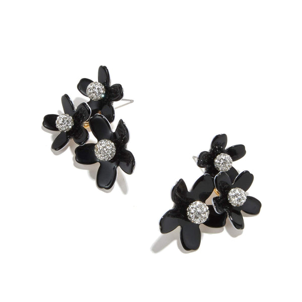 Lele Sadoughi Garden Bouquet Button Earring Jet