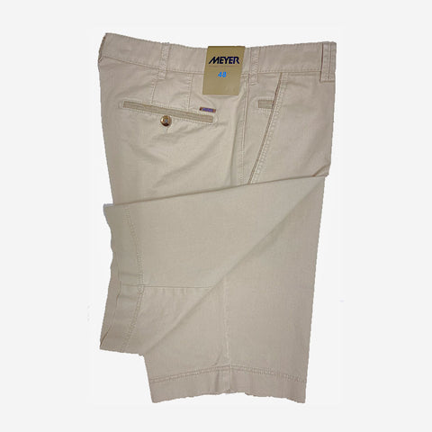 Meyer B-Palma Cotton Stretch Bermuda Shorts Khaki