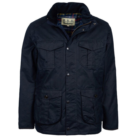 Barbour Latrigg Waxed Coat Navy