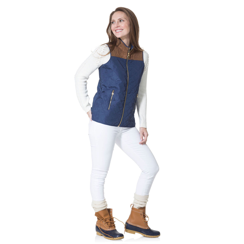 Sail to Sable Quilted Vest Navy