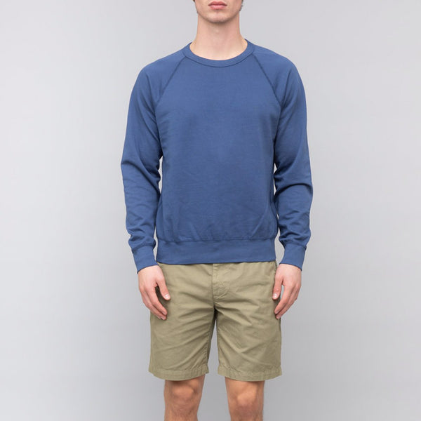 Save Khaki United Long Sleeve Supima Crew Sweatshirt Indigo
