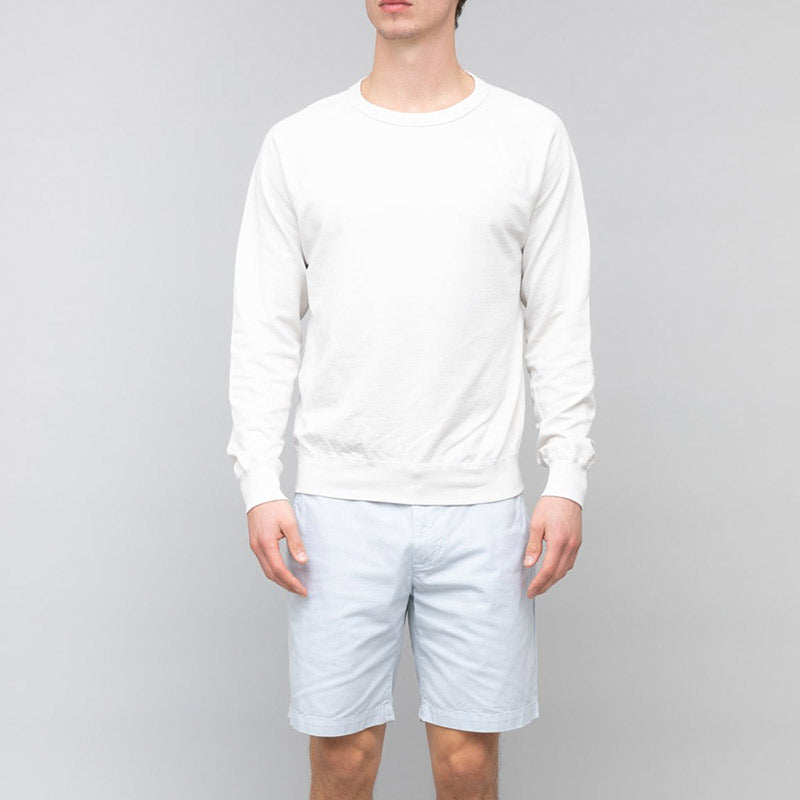 Save Khaki United Long Sleeve Supima Crew Sweatshirt Ash