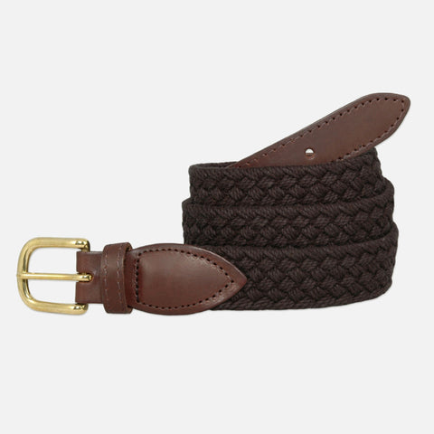 YRI Men's Braided Cotton Belt - Black