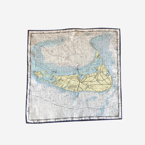 Trumbull Rhodes Nantucket Tide Chart Pocket Square