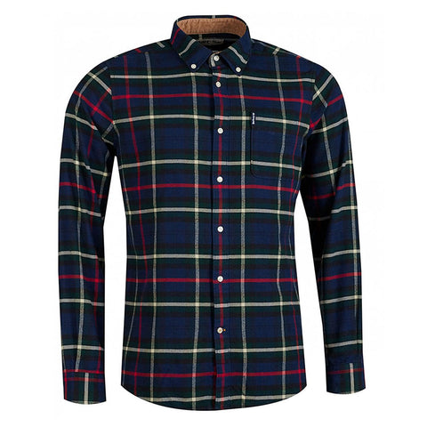 Barbour Highland Check Shirt 19 Tailored Navy