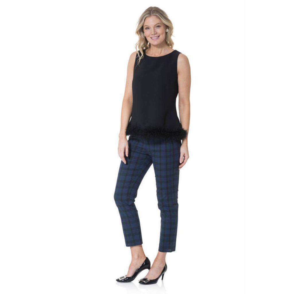 Sail to Sable Poly Crepe Sleeveless Top Black