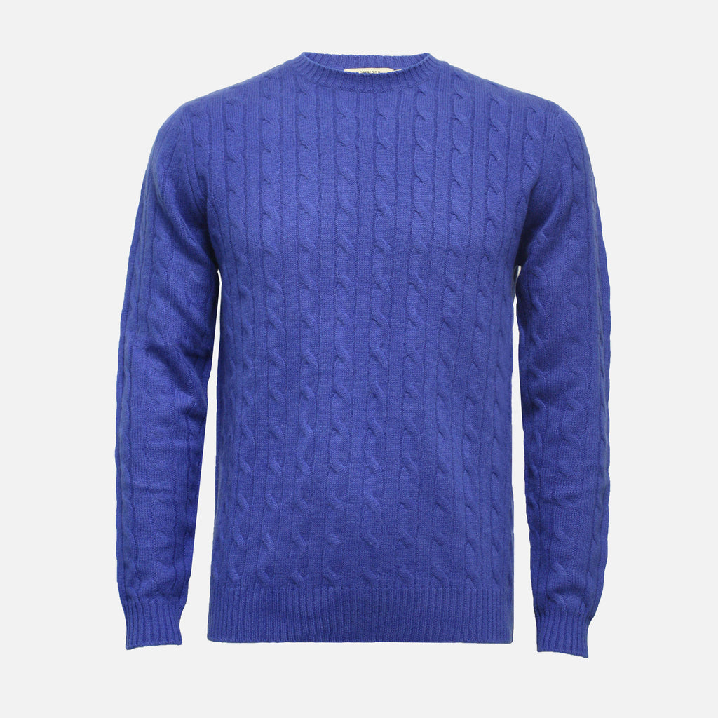 Hommard The Cable Sweater - Royal Blue