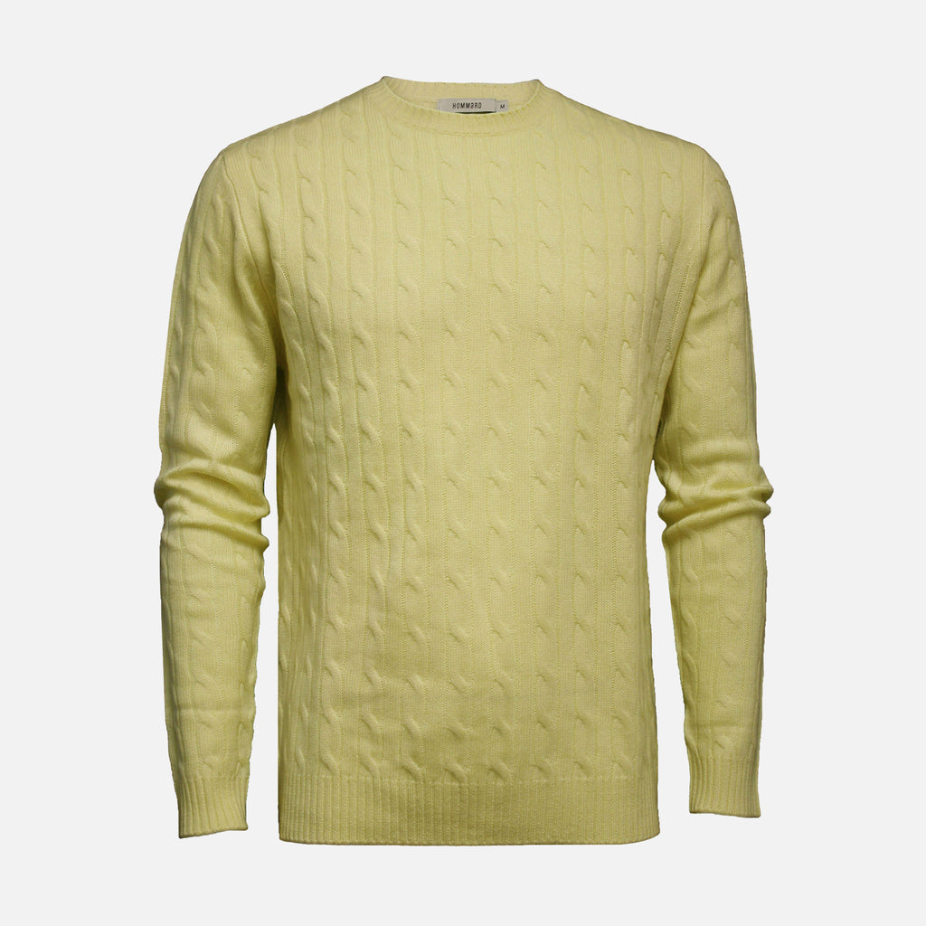Hommard The Cable Sweater - Yellow