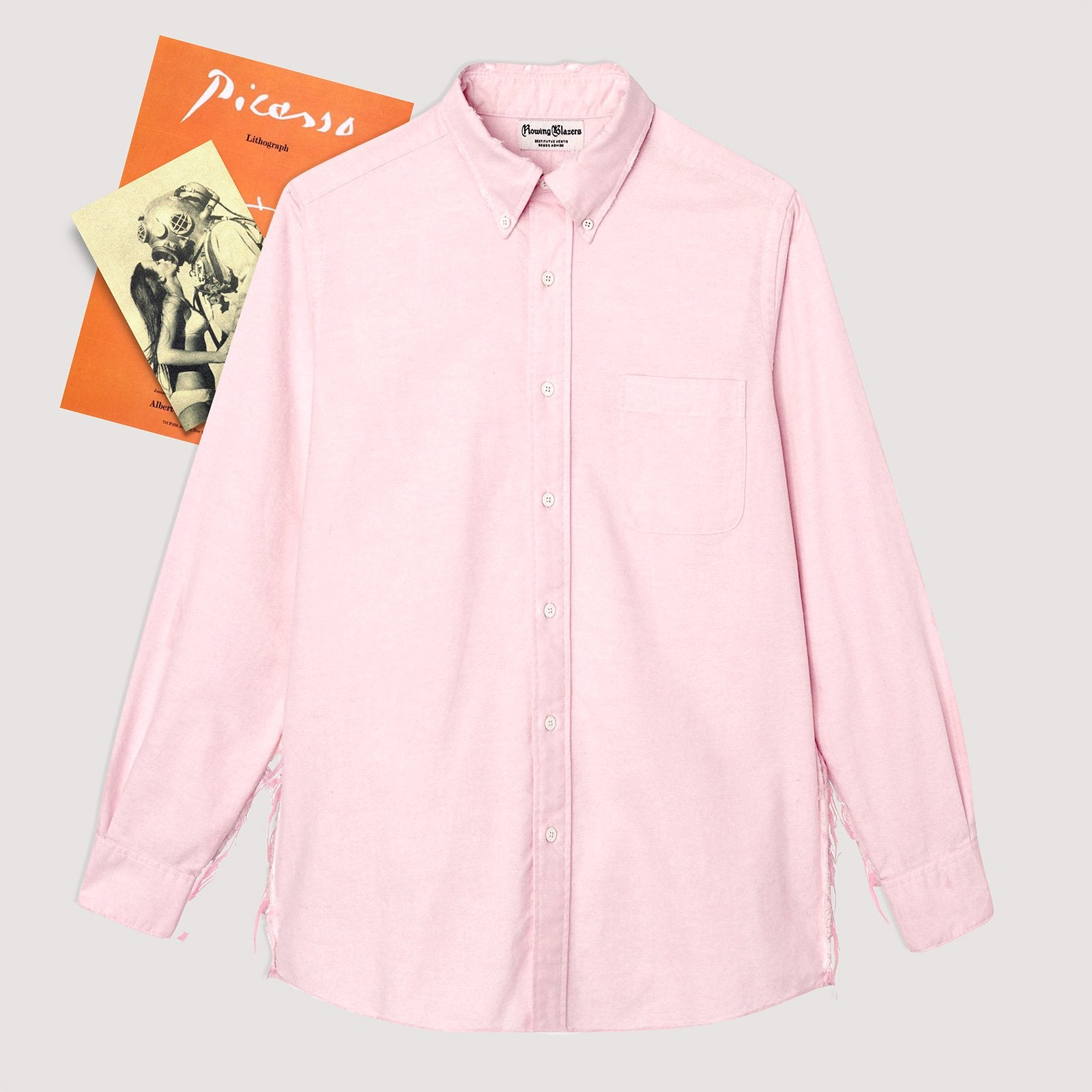 Rowing Blazers Distressed Oxford With Busted Seams - Pink