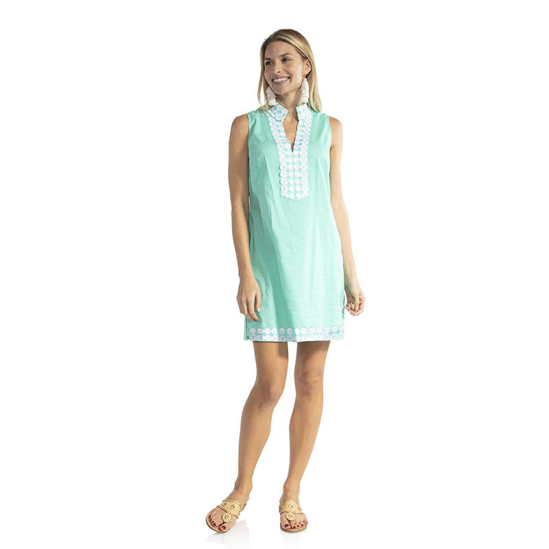 Sail to Sable Sleeveless Classic Tunic Dress Mint